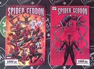 Spider-Geddon #1 2 3 4 5 2018-19 Marvel Comics Set Spider-Man Spider-Verse MCU