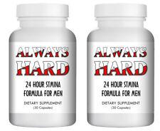 "2x ""Always Hard"" - Natural Strong Herbal Sex Pills for Men 60 Pills Bottle USA"