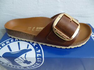 Birkenstock Madrid Mules Cognac Real Leather 1016525 New
