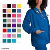 Adar Women's Plus Size Medical Nursing Workwear Uniform Warm Up Scrub Jacket