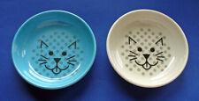 Set of 2 Ecoware Cat Food Dish Bowls Blue & White Non Skid Degradable 8 oz