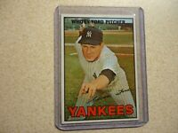 1967 TOPPS WHITEY FORD NEW YORK YANKEES AWESOME CONDITION #5