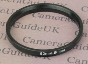 52mm to 50mm 52mm-50mm Stepping Step Down Filter Ring Adapter