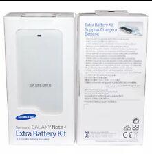 ORIGINALE Samsung Galaxy nota 4 Extra Batteria & Caricabatterie KIT BIANCO eb-kn910bwegww