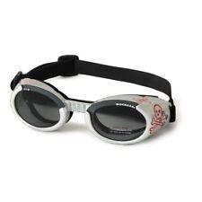 Doggles Dog Goggles ILS Skull and Cross Bones Frame / Smoke Lens Large