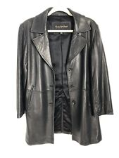 Marc New York Andrew Marc Womens M Medium Buttery Soft Leather Jacket Coat Black