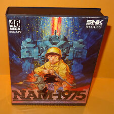 VINTAGE 1990 90s SNK NEO-GEO AES NAM-1975 VIDEO GAME CARTRIDGE BOXED