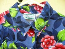Separate Issue M 90S Sleeveless Red Big Country Floral Rayon Blouse Shirt Women