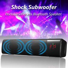Bluetooth 3.0 Theater Soundbar Speaker System Stereo Subwoofer TF/USB/AUX IN/FM