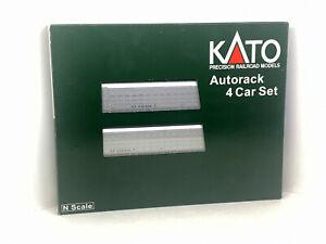 Kato N Scale / Gauge #106-5504 Autorack 4 car set Canadian Pacific