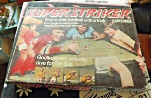 Vintage Super Striker 5 a side Football Game Complete with instructions