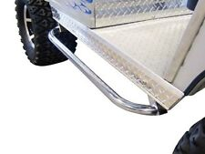 EZGO Medalist/TXT Nerf Bars with Video Instructions! Stainless Steel SET OF 2