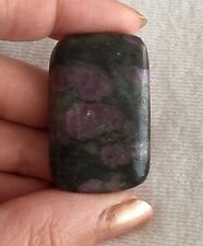 Purple Spinel In Granite Cab Cabochon