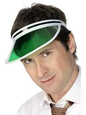 Green Sun Visor Croupier Poker Casino Party Golf 80s Ladies Mens Fancy Dress