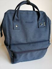 "Himawari Dark Blue Backpack w/ 14"" Laptop sleeve, Outside: 15H x 11W x 5D inches"