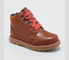 Cat & Jack  Boys Size 5 Prescot Moc Toe Sherpa Casual Fashion Boots Brown