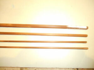 Vintage Gene Edwards bamboo fly rod building blank. 7' - 3 pc. - 4 wt. flamed.