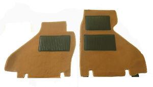 Classic brown velours floor mats for Ferrari TestaRossa Testa Rossa