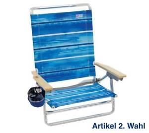 Rio Brands Deluxe Strandstuhl, Blau, Klappstuhl Campingstuhl