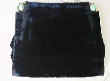 Ancien sac a main de soirée.Velours et turquoise.Art déco.