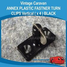 Caravan ANNEX PLASTIC FASTNER TURN CLIPS VERTICAL  ( 4 Pack BLACK )