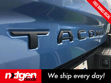 Toyota TACOMA 3D Matte Black Tailgate Letters Insert Plastic ABS Badge 2016 2020
