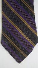"Generic Men's Geometric Neck Tie Poly Purple Gold Classic 3 3/4"" x 57"""