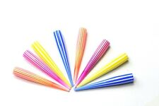 8 x 8mm fluro candy stripe ear tapers acrylic Stretcher Expander Flesh plugs