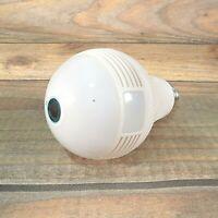 1080P Smart Bulb Security Camera, 360 Degree Panoramic WiFi Camera