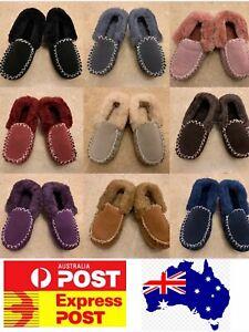 UGG sheepskin Moccasin Slippers, comfy 100% sheepskins, Ladies Sizes Measure