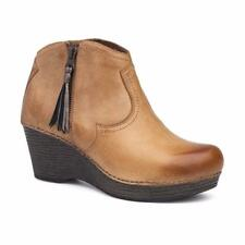 Dansko Veronica Ankle Boot in Honey Distressed Leather Size 41 US 10.5