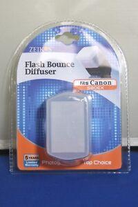 Zeikos Pro Series  Hard Flash Diffuser fits Canon 580EX Flash White Free Ship