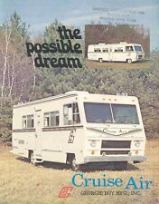 1977 Georgie Boy Cruise Air Motorhome RV Brochure wg4916-659XJB
