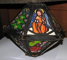 Original Not Repro Vtg Tissue Paper N Cardboard 1930'S Folding Xmas Lantern