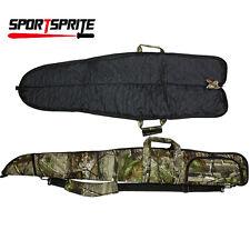 "53"" Tactical Camo Scoped Rifle Soft Padded Case ShotGun Bag Gun Storage Hunting"