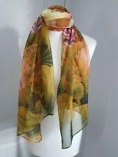Ladies Chiffon Scarf with Autumnal Design