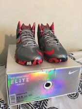 Nike Lebron XI Elite Team Shoes Wolf Grey/Laser Crimson Grey 642846 001 NEW 11.5