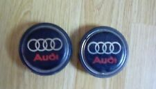 AUDI centre caps x2  55  mm inner  black with red/silver audi lines vintage audi