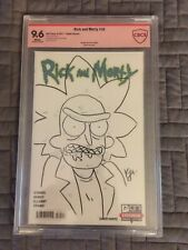 Rick And Morty 30 Blank Variant CBCS 9.6 Signed And Sketched By Kyle Starks