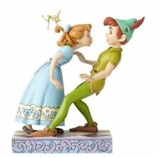 Jim Shore Disney An Unexpected Kiss Peter Pan and Wendy Figurine 4059725 New