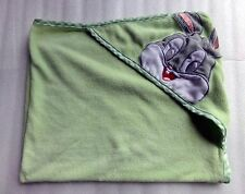 Infant Looney Toons Baby Bugs Bunny Rabbit Green Terry Cloth Bath Hooded Towel