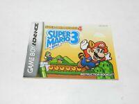 Super Mario Bros 3 SMA4 Nintendo Game Boy Advance Game Manual Booklet Only
