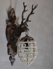 Testa Di Cervo Applique Lampada Parete Cristallo Art Illuminazione Stile Vintage