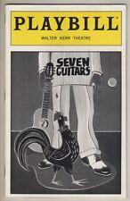 "August Wilson ""Seven Guitars""  Playbill  1996  Keith David & Viola Davis"