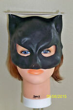 KIDS OR ADULTS CAT GIRL BLACK KITTY HALF LATEX MASK COSTUME TB25004