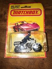 Matchbox No. 33 Honda 750 Police Motorcycle W/ Rider 1977 - On Card!!! ERROR????