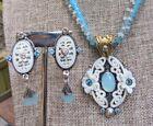 Mars & Valentine Echo Of The Dreamer Sterling Gemstone Beaded Necklace Earrings