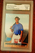 GRADED BASEBALL CARD 2011 DONRUSS ELITE STARLIN CASTRO ROOKIE GEM MINT 10