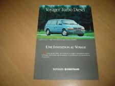 DEPLIANT Chrysler Voyager Turbo Diesel de 1993