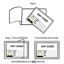 100 X tamaño de tarjeta de crédito Auto Adhesivo Frío sello laminado bolsas de ID 300 µ